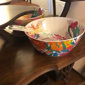 NEW Bridgette Thornton Salad bowl SET